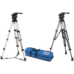 VB100-AP2S Vision 100 pan & tilt head, dual telescopic Pan Bars, two-stage aluminium Pozi-Loc tripod, skid