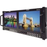 TVLogic PRM-902Q 9-inch LCD Dual Multi-Channel 4RU Rack Monitor